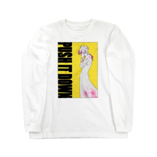 PUSH IT DOWN(淡色) Long sleeve T-shirts