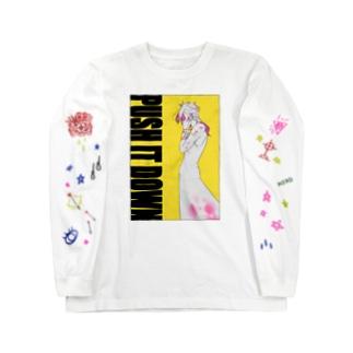 PUSH IT DOWN(袖デザインVer.) Long sleeve T-shirts