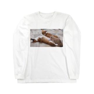 何をしても起きないコーギー Long Sleeve T-Shirt