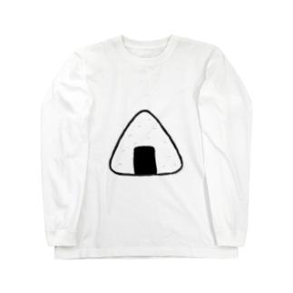 めんたいこおにぎり Long sleeve T-shirts