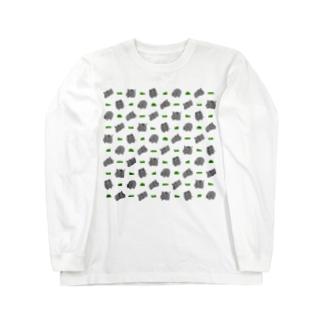 サイと草 Long sleeve T-shirts