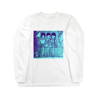 昭和の三人娘 Long sleeve T-shirts