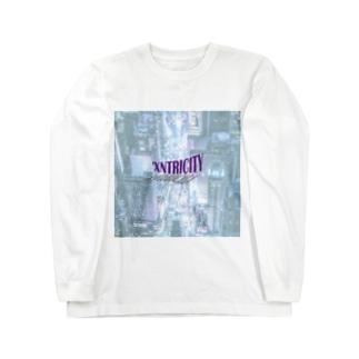 でおきしりぼ子のえきせんとりしてぃ-正方形(文字小さめ) Long Sleeve T-Shirt