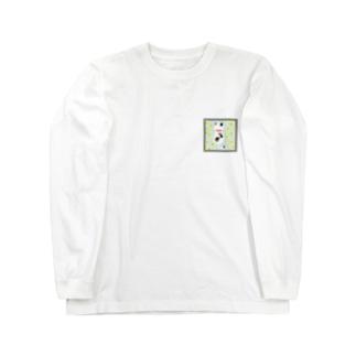 ドットネコ。ハル。 Long sleeve T-shirts