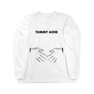 ポンポン痛い English ver. Long sleeve T-shirts