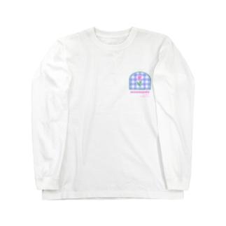 tulip×check Long sleeve T-shirts