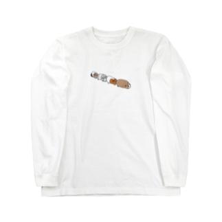 渋滞モルモット Long sleeve T-shirts
