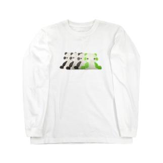 パンダの残像 Long sleeve T-shirts