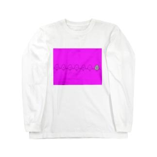 キヨペン堂のコメツブラザーズ ピンク Long sleeve T-shirts