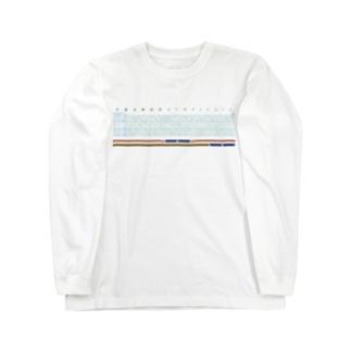 昭和47年信越本線ダイヤグラム Long sleeve T-shirts