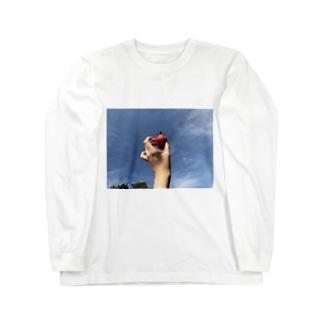いちごの空 Long sleeve T-shirts