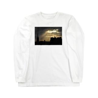 🚢スコットランド/エディンバラ城 Long sleeve T-shirts