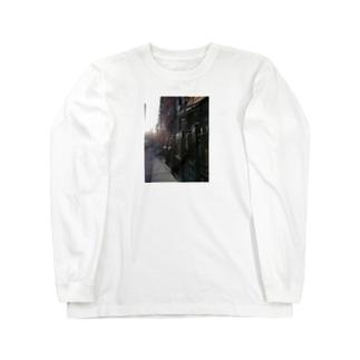 🚢ニューヨークの朝 Long sleeve T-shirts