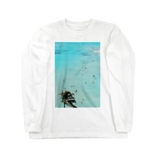 ワイキキビーチ縦 Long sleeve T-shirts
