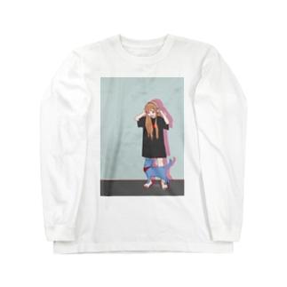 猫と音楽 Long Sleeve T-Shirt