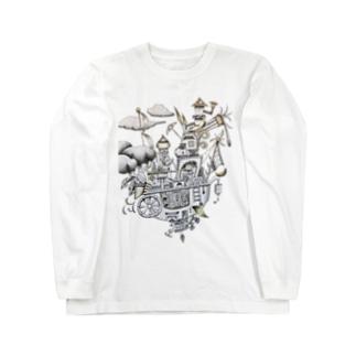 空飛ぶ船 Long sleeve T-shirts