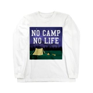 NO CAMP NO LIFE-ノーキャンプ ノーライフ- Long sleeve T-shirts