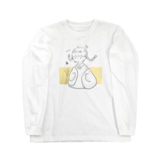 ハチにびっくり! Long sleeve T-shirts