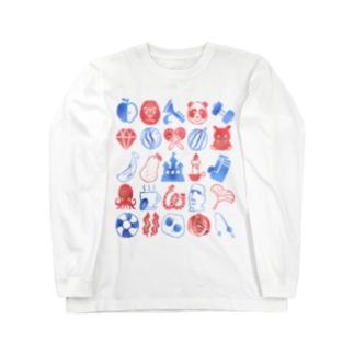 りんごりらっぱ Long sleeve T-shirts