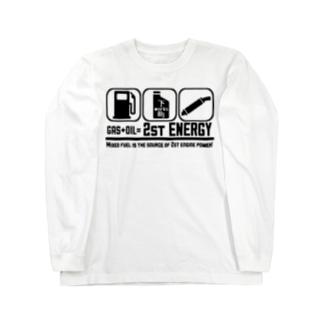 2st ENERGY:ブラック Long sleeve T-shirts