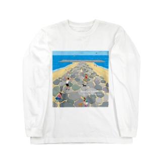 湘南ランドスケープ05:茅ケ崎ヘッドランド Long sleeve T-shirts