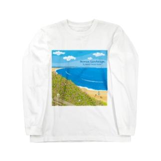 湘南デザイン室:Negishi Shigenoriの湘南ランドスケープ08:海辺のハマダイコン Long sleeve T-shirts