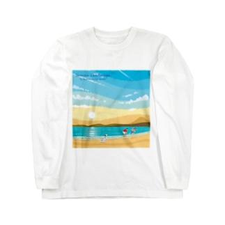 湘南ランドスケープ02:ひこうき雲 Long sleeve T-shirts