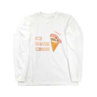 アイスクリームなサメさくら Long Sleeve T-Shirt