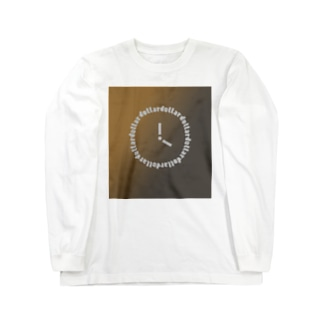 dollar dollar box 時計 Long sleeve T-shirts