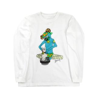 ネコスイカマニアカラー Long sleeve T-shirts