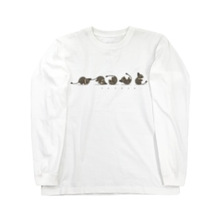 でんぐりデグー Long sleeve T-shirts