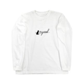 nyaaat公式ネコアイテム Long Sleeve T-Shirt