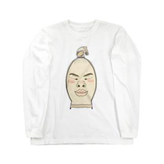 ストッキング顔 Long sleeve T-shirts