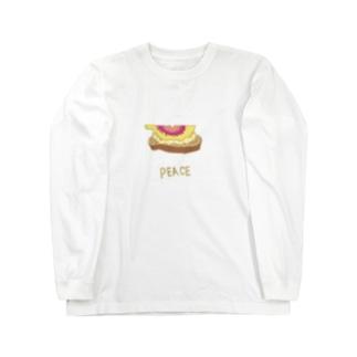 【ささやかpeaceシリーズ】イチジクリコッタチーズ Long sleeve T-shirts