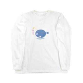 お魚辞典シリーズ🐟チョウチンアンコウ Long sleeve T-shirts