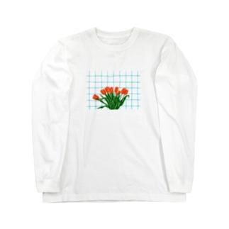チューリップとキッチン Long sleeve T-shirts