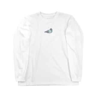 おすわりハト Long sleeve T-shirts