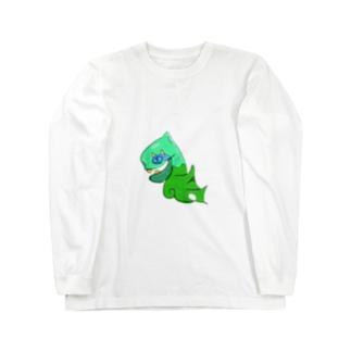 ウミオヨギくん Long sleeve T-shirts
