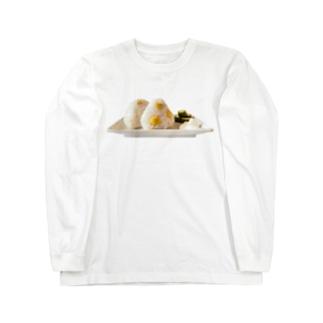 栗ご飯(おにぎり) Long sleeve T-shirts