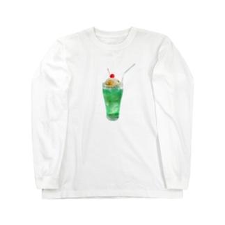 栗ご飯(クリームソーダ) Long sleeve T-shirts