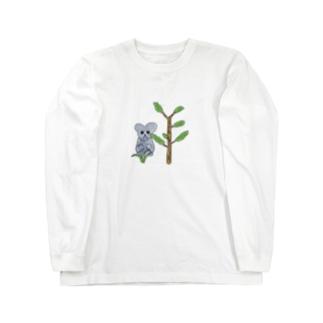 コアラと植物2 Long sleeve T-shirts