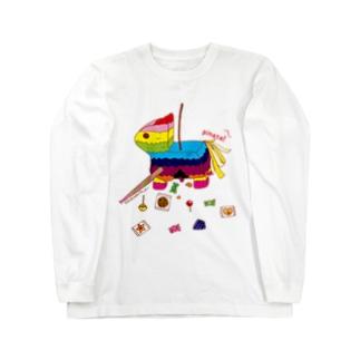 ピニャータ Long sleeve T-shirts