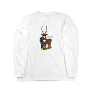 Mr.Deer 文字あり Long sleeve T-shirts