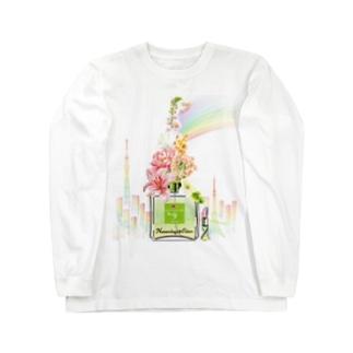 アンドアイデザイン 数秘&カラー🄬オマージュボトルNo9&OLIVE Long sleeve T-shirts