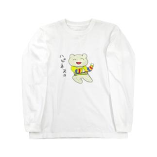 ハピネスみみちゃん Long sleeve T-shirts
