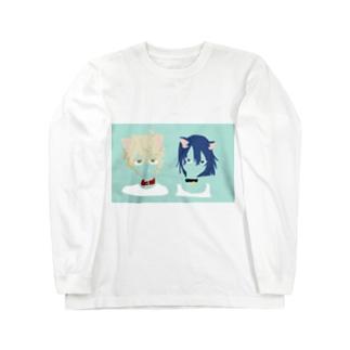 いぬとねこ Long sleeve T-shirts