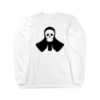 ZAC99の【剣道面】スカルメン Long Sleeve T-Shirt