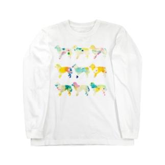 オーストラリアンシェパード【パレット】 Long sleeve T-shirts