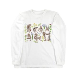 春のニホンリス Long sleeve T-shirts