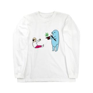 花くまゆうさくの手品 Long sleeve T-shirts